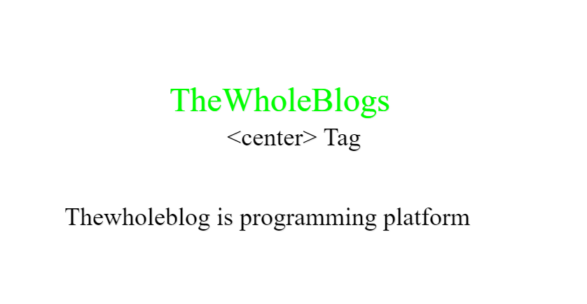 Text At the Center Using HTML