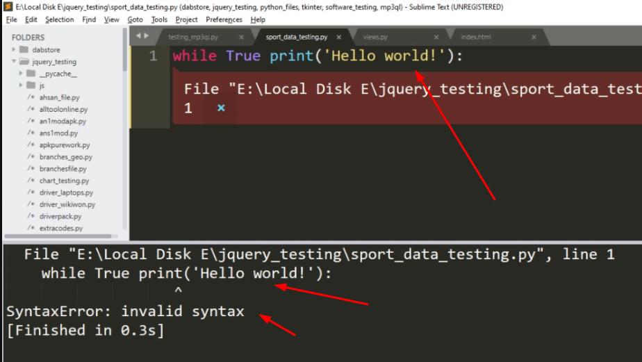 "(File """", line 1) in Python"